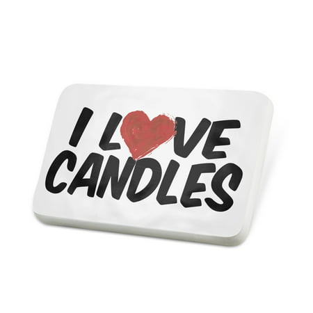Porcelein Pin I Love Candles Lapel Badge – NEONBLOND