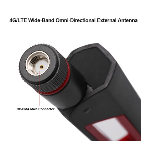 4G LTE Universal Wide Band Omni-Directional External Antenna 700-2700MHz w/  RP-SMA Male Connector 19 3cm Modem Router Antenna Rod