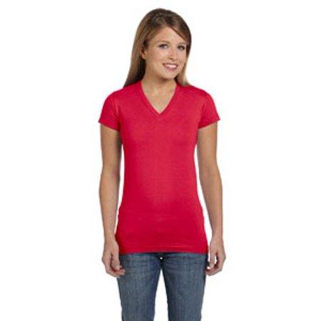 LAT Ladies' Junior Fit V-Neck Fine Jersey T-Shirt
