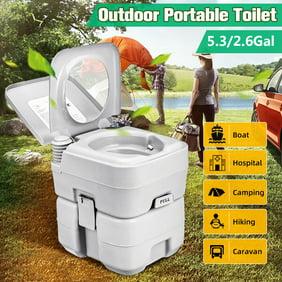 la randonn/ée robuste pour le camping les longs voyages lavable plastique ABS Toilette de camping portable avec 12 sacs propres Si/ège de toilette pliant ext/érieur WC Porta Potty Car Toilette