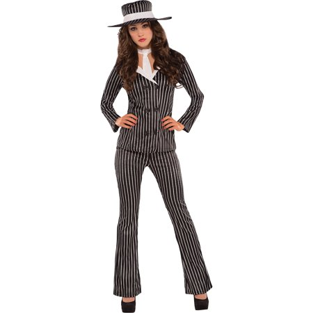amscan Adult Mob Wife Costume - X-Large (14-16), - Mob Wife Costumes