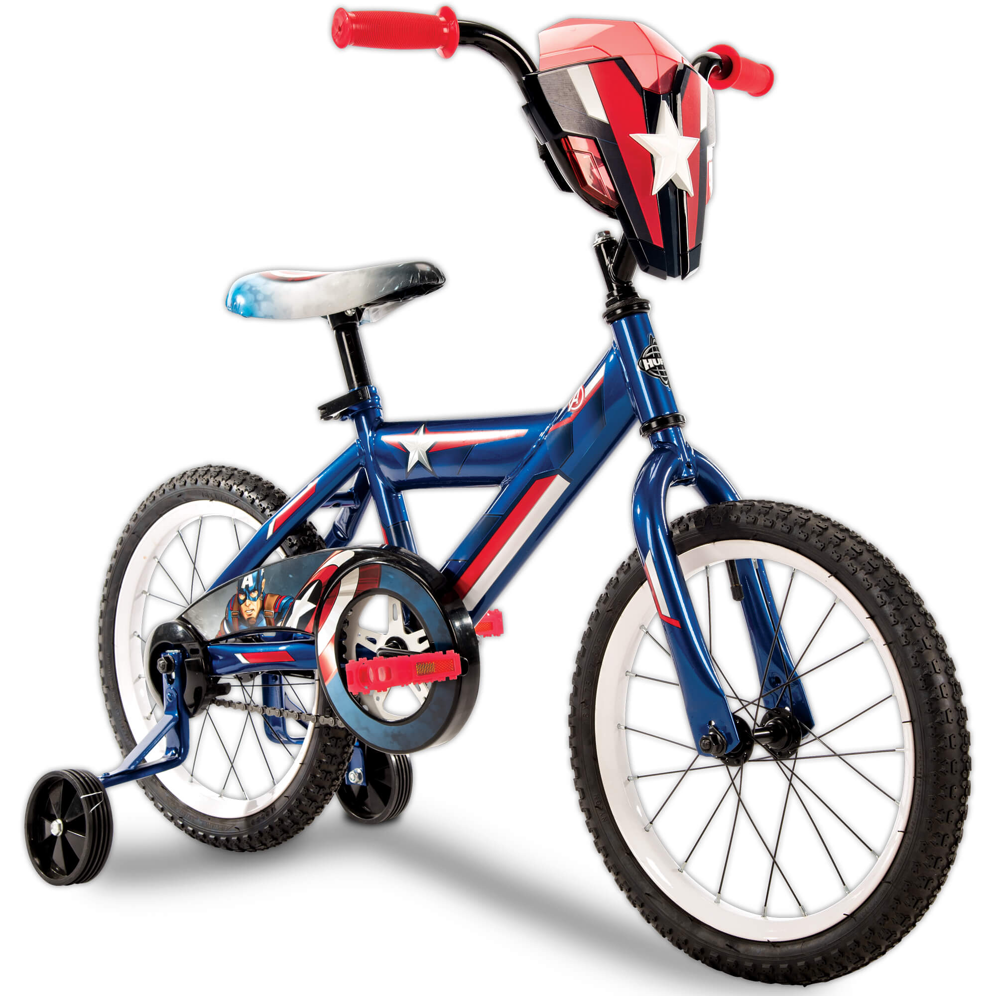 Captain America 16-inch Boys Blue and Red Bike, by Huffy