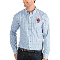 Colorado Rapids Antigua Structure Button-Down Long Sleeve Shirt - Sky Blue/White