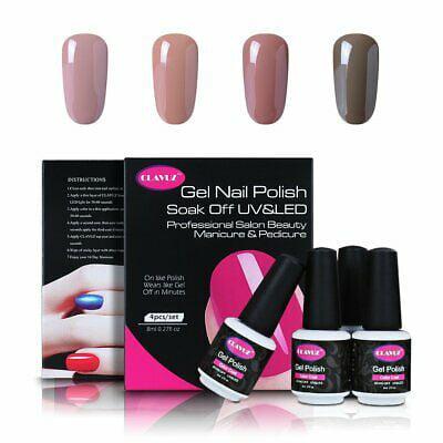 Cool Halloween Manicures (Clavuz Semi-Permanent Enamel 4pcs UV LED Gel Nail Kit Manicure and)