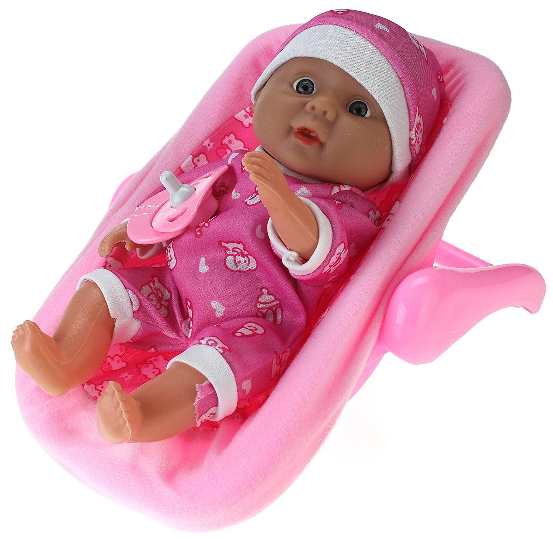My Little Baby Realistic Baby Toy Doll In Rocker w  Pacifier & Rocker by Velocity Toys
