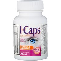ICAPS Lutein & Omega-3 Softgels 30 Soft Gels (Pack of 3)