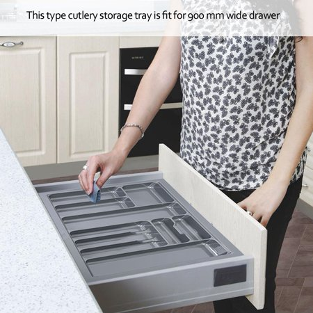 Cutlery Drawer,Fosa 900mm Cutlery Trays Insert Knives and Forks Storage Drawer Organizer for Kitchen Home,Cutlery Drawer - Drawer Knife Storage Tray