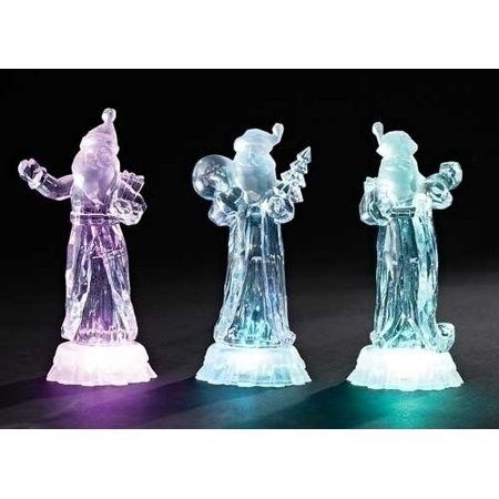 Clear Glass Santa (7.75