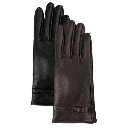 Luxury Lane Women's Lambskin Leather Gloves with Cashmere Lined Lined Lambskin Leather