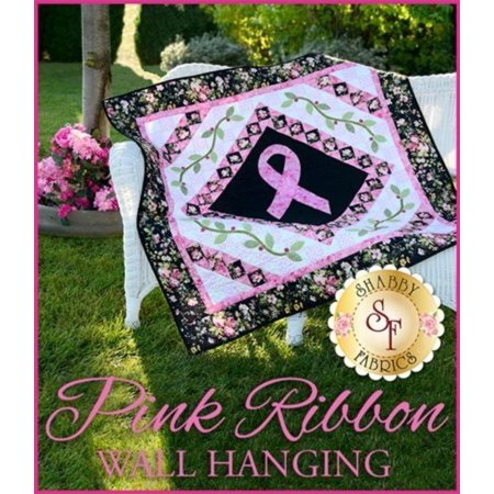 Pink Ribbon Breast Cancer Wall Hanging Quilt Pink Ribbon Breast Cancer Wall Hanging Quilt By Shabby Fabrics