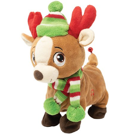 (Set) Animated Tooty Rudy Singing Farting Reindeer Plush w/ Spare Batteries ()