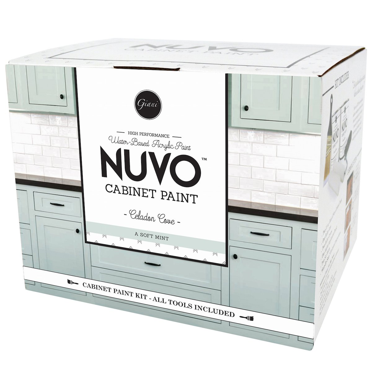 Nuvo Celadon Cove Cabinet Makeover Paint Kit