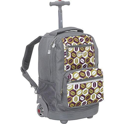 J World New York Sunset Rolling Backpack
