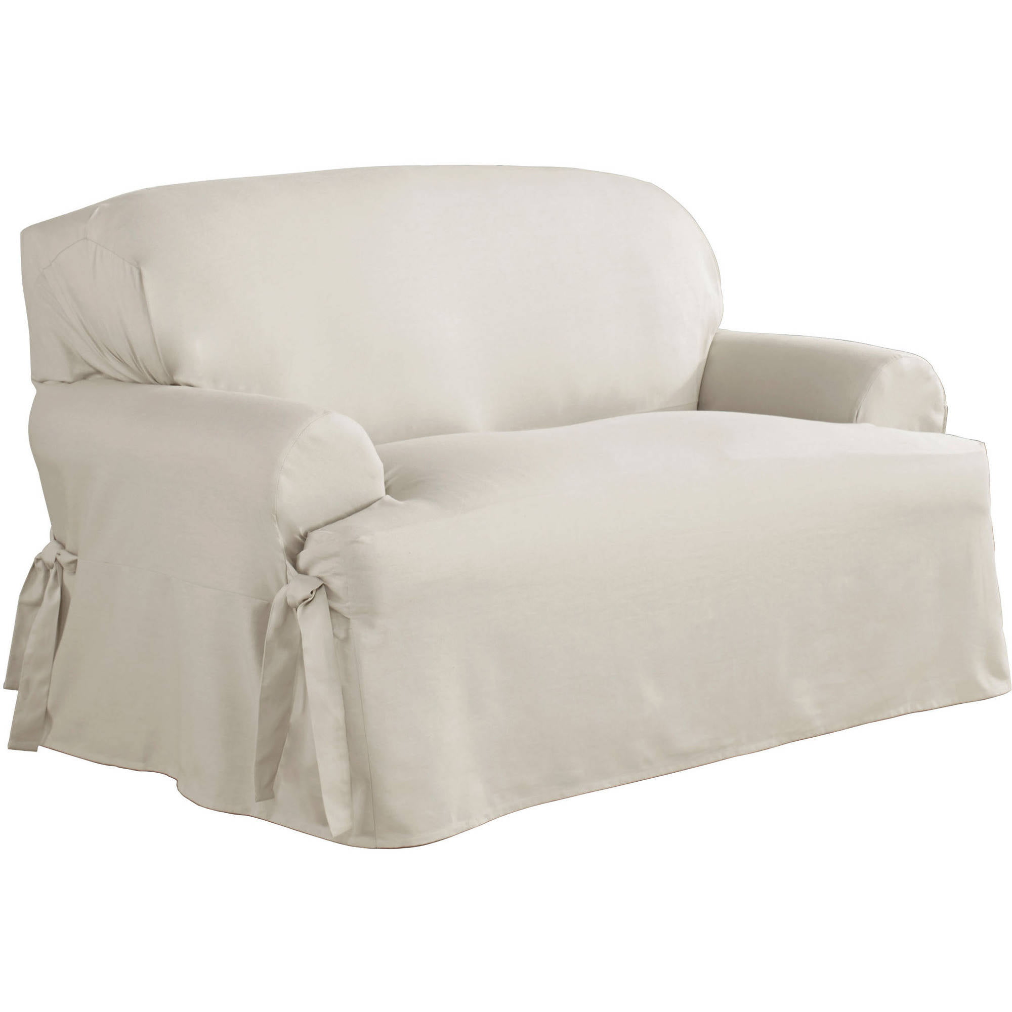 Serta Relaxed Fit Duck Furniture Slipcover, Loveseat 1 Piece T Cushion    Walmart.com