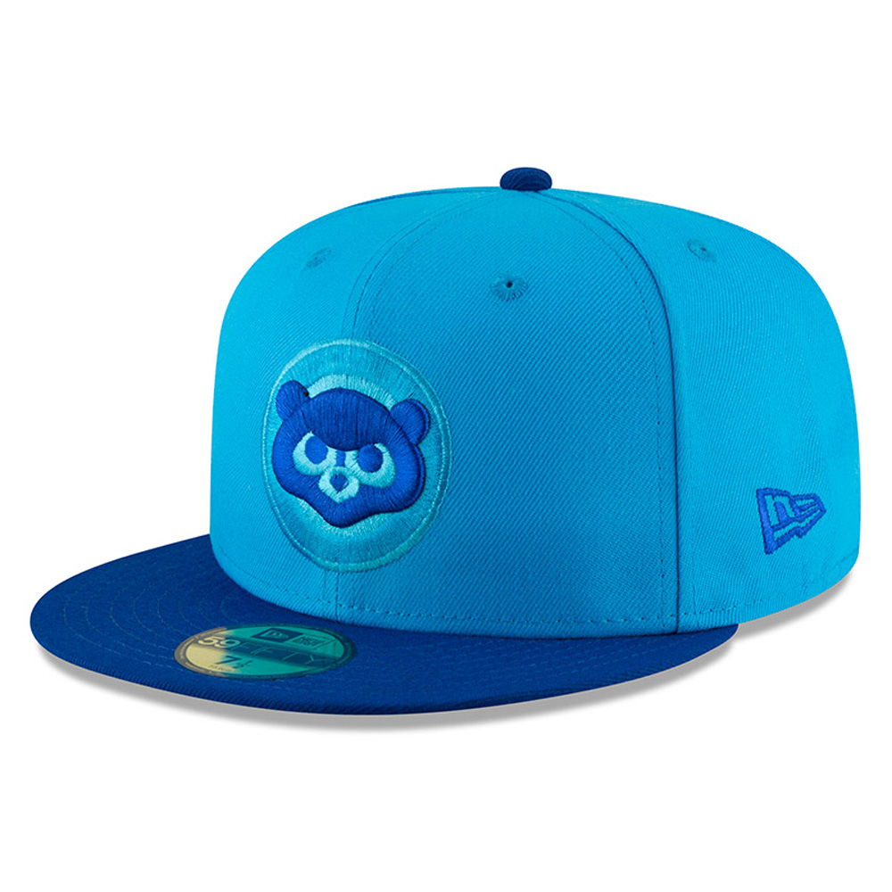 Chicago Cubs New Era Youth 2018 Players' Weekend On-Field 59FIFTY Fitted Hat - Blue/Blue