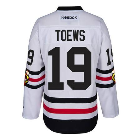 Jonathan Toews Chicago Blackhawks NHL Reebok White 2017 Winter Classic Premier Jersey For Men