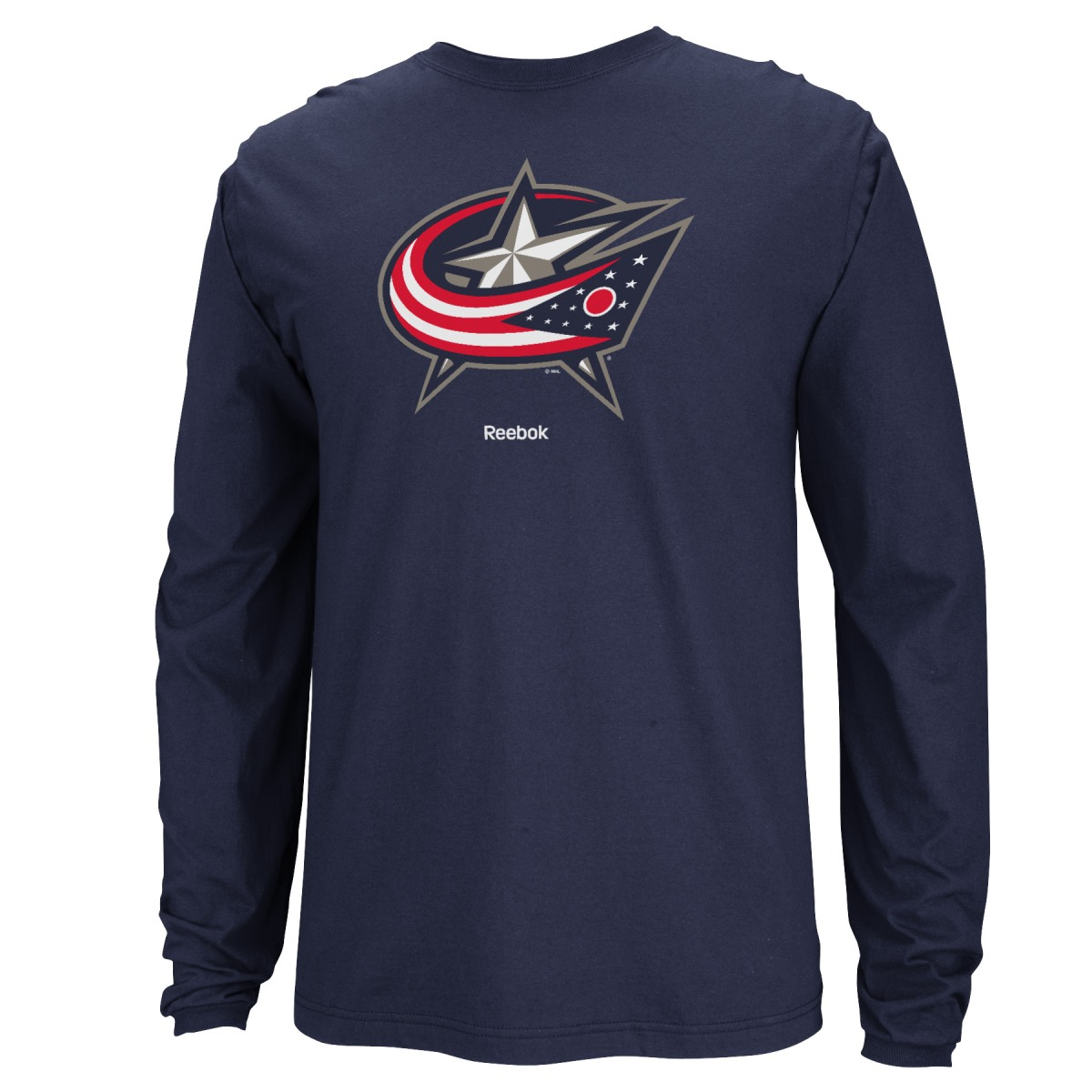 Columbus Blue Jackets Reebok NHL Jersey Crest Long Sleeve Men's T-Shirt by Reebok