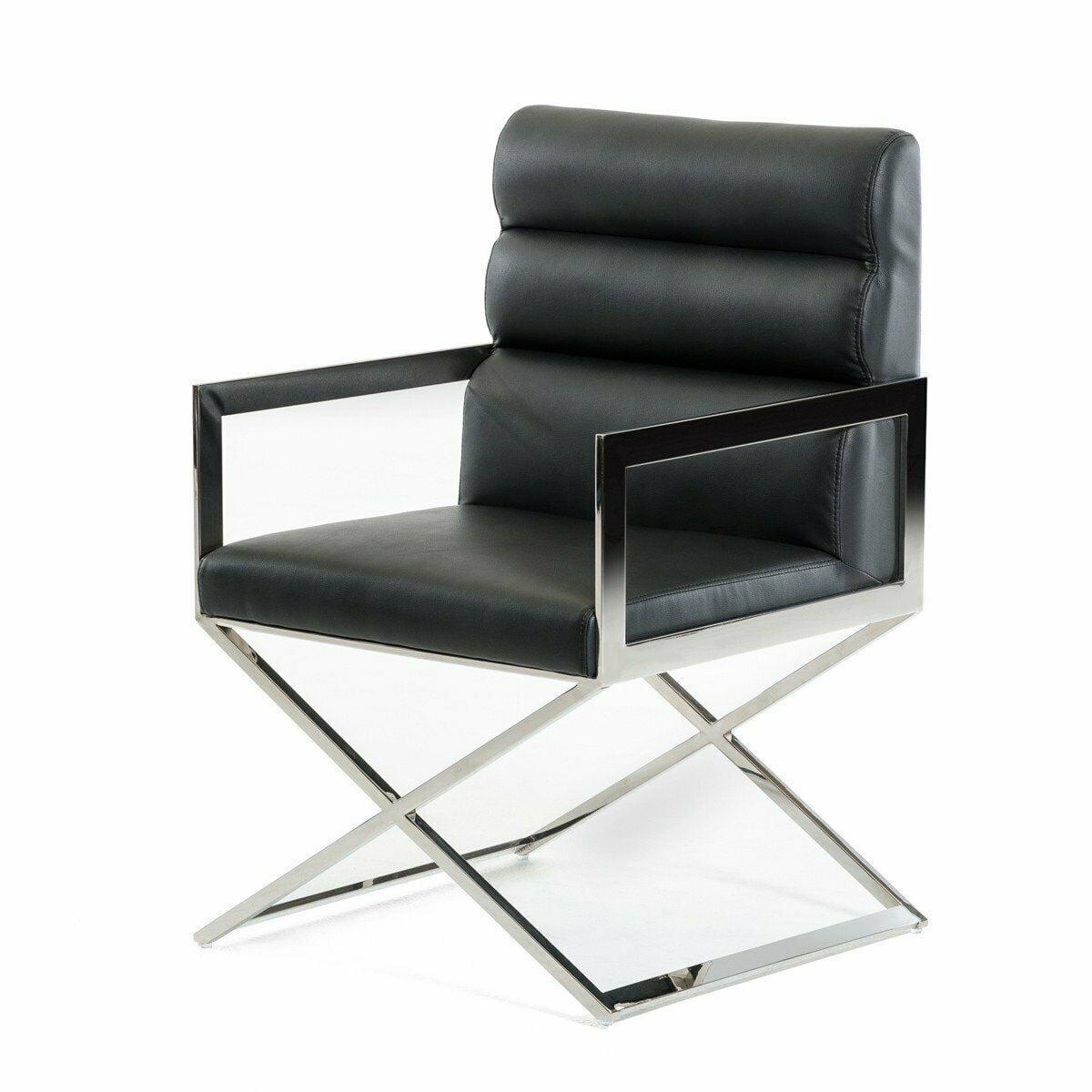 Harper Leatherette Dining Chair Black: Modrest Capra Modern Black Leatherette Dining Chair