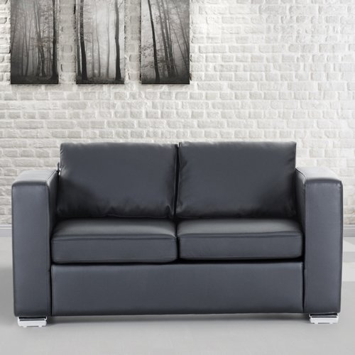 Orren Ellis Enya Genuine Leather Loveseat