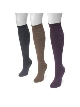 54493c540 Product Image Women's Fuzzy Yarn Knee High Socks 7.5 x 3.5