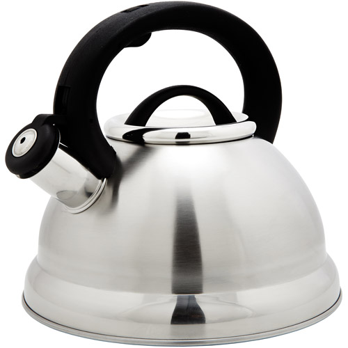 Kitchen Details Stainless Steel Whistling Spout Tea Kettle, 3.0 Quart