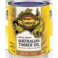 Cabot 81005 1 Gallon, Honey Teak Australian Timber Oil Wood Finish, Reduced Water
