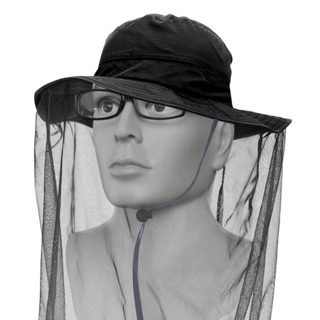 Face Nut - IClover Net Mesh Head Face Protector Anti-mosquito Mask Hat [4 Colors] Insect Bee Mosquito Bug Resistance Sunhat Safari Hat without UV Protection for Travel Camping Pasture Black