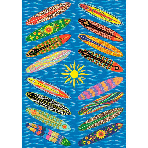 Fun Rugs Supreme Go Surfing Blue Area Rug