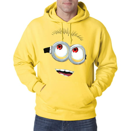 Minion Hoodie For Adults (Despicable Me Minion Face)