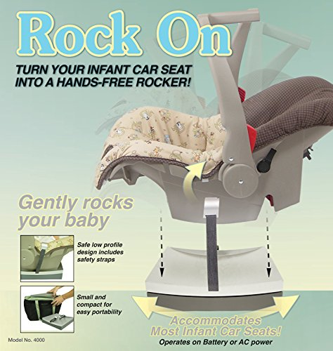 Redmonusa Redmon Rock On Car Seat Rocker, Gray