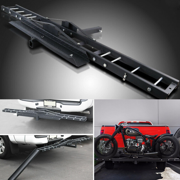 500 LBS Heavy Duty Motorcycle Dirt Bike Scooter Carrier Hitch Rack Hauler Trailer with Loading Ramp