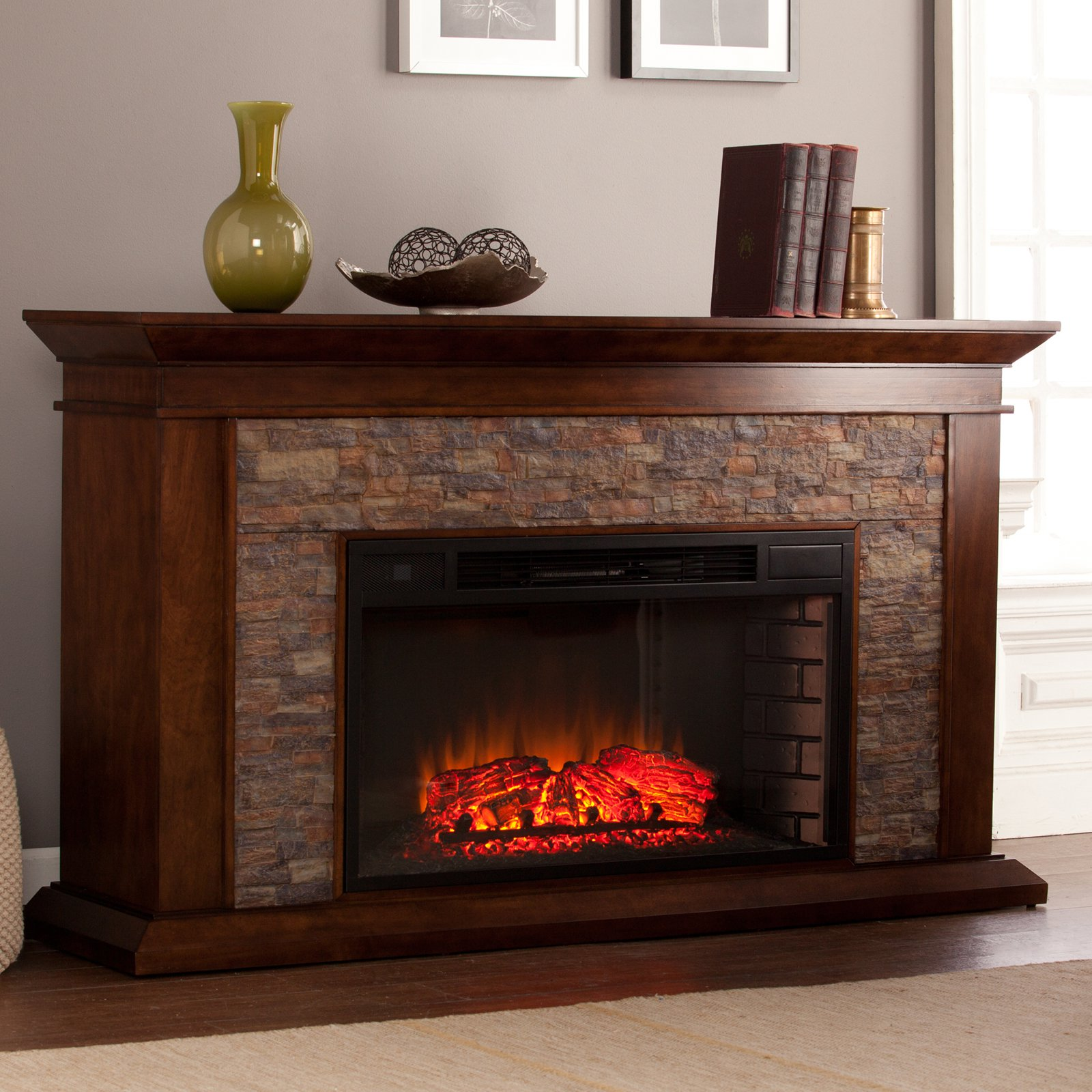 Southern Enterprises Canyon Heights Electric Fireplace Walmartcom
