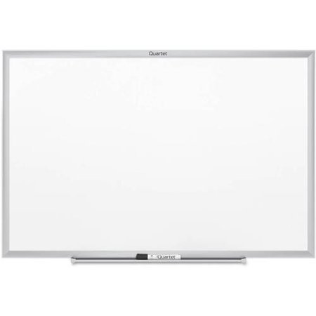Quartet Classic Whiteboard, 6' x 4', Silver Aluminum Frame (S537) (Wired Whiteboard)
