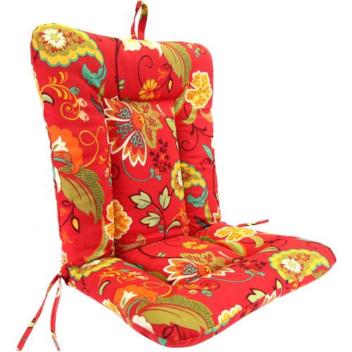 Jordan Manufacturing Outdoor Wrought Iron Dina Lounger Cushion, Multiple Patterns