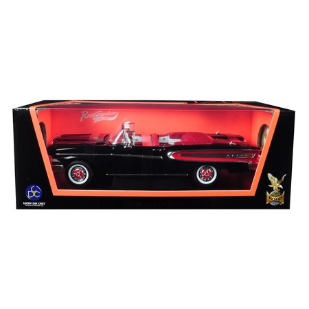 1958 Edsel Citation Convertible Black 1/18 Diecast Model Car by Road Signature