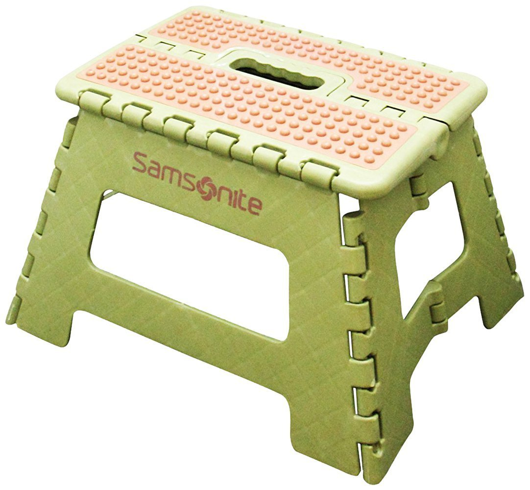 Samsonite Mini Folding Step Stool Olive Tan Walmart Com