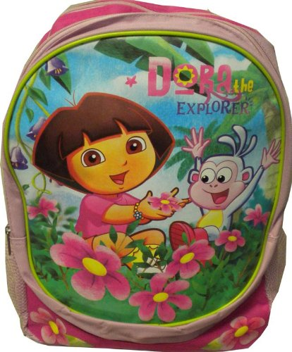 Dora the Explorer Dora and Boots Large Pink Backpack By Backpacks by