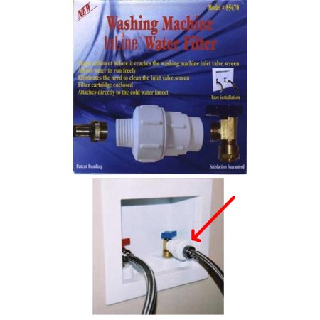 Washing Machine InLine Water Filter 85470 (Water Filter Inline Refrigerator)