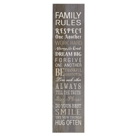 LifeSong Milestones Home Décor Sign - Family Rules (Barnwood)