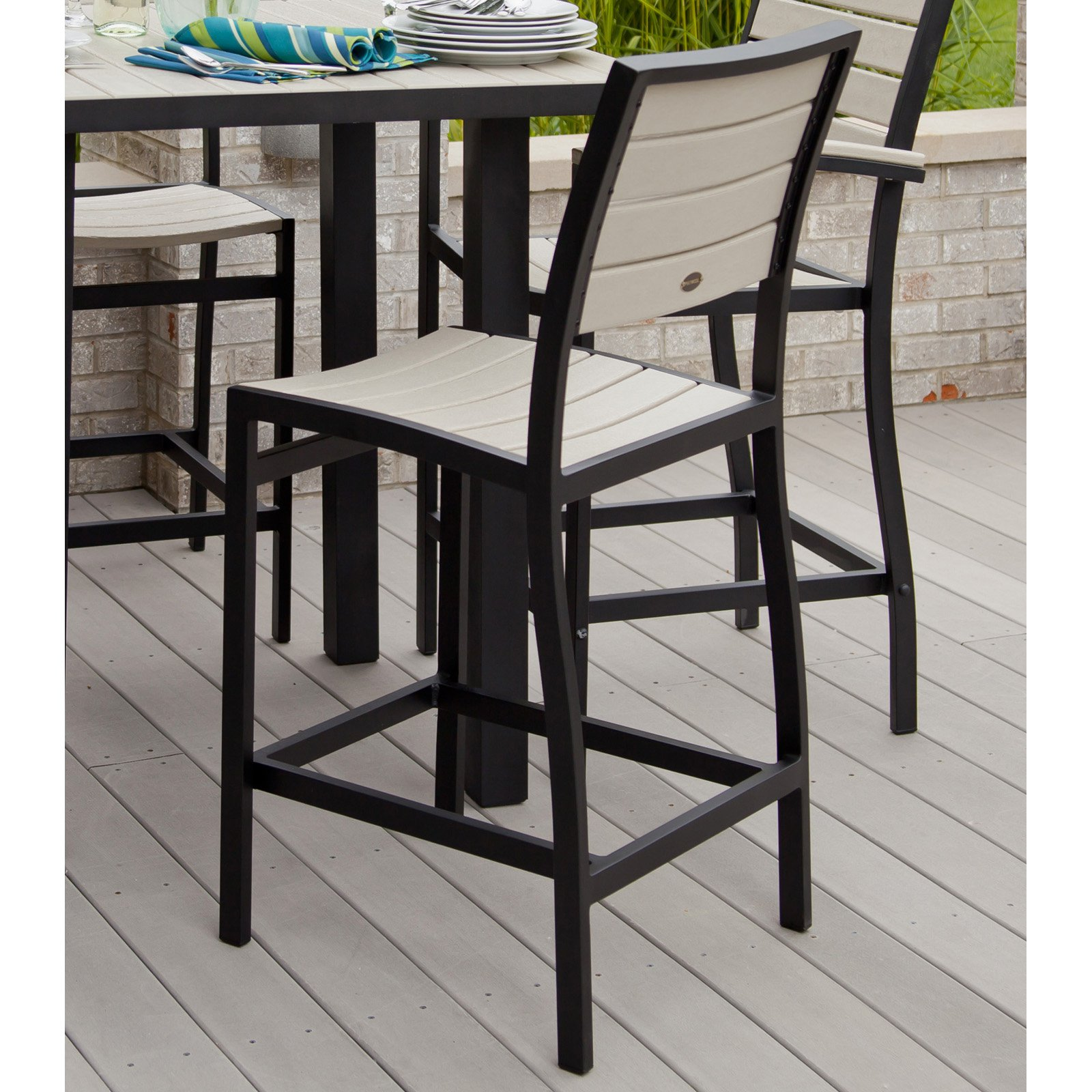 POLYWOOD® Euro Bar Height Side Chair