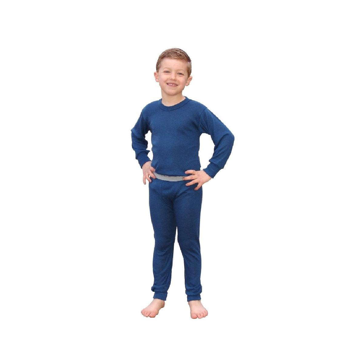 Boys Blue Indera Thermal Underwear Set, Includes Tops & Bottoms ...