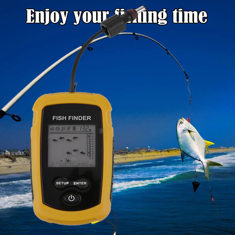 100m Depth Fish Finder Detector Portable River Lake Sonar Fishing Sensor Alarm