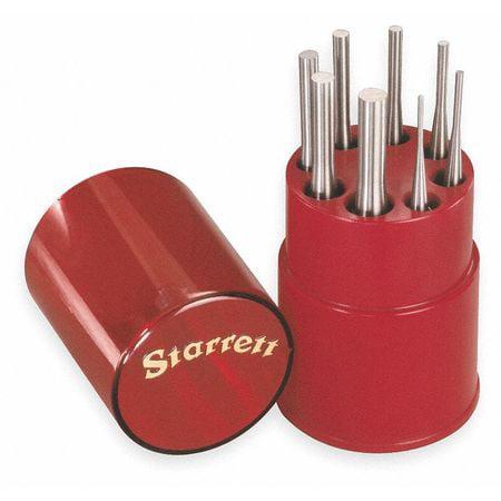 Starrett Drive Pin Punch Set, Steel, S565WB