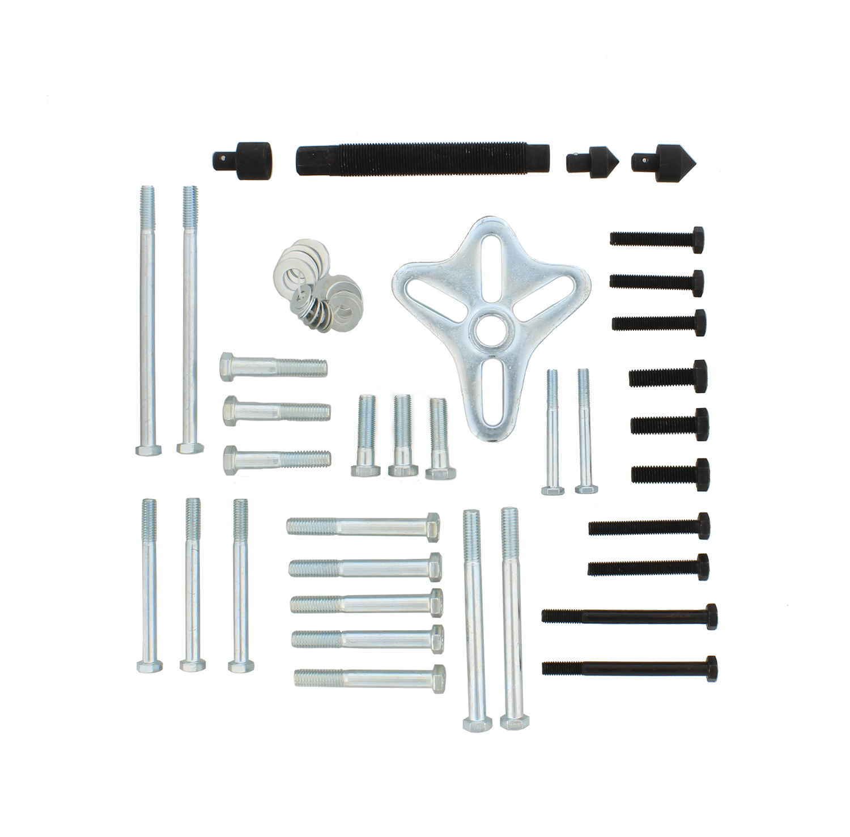 Heavy Duty 46 Pc Harmonic Puller Set Steering wheel //Crankshaft Balance Puller Gear Flywheels Steering Tool