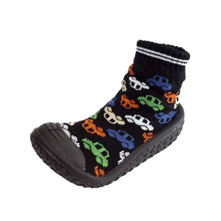 Stock Pattern (Infant Q Baby Boys Anti-slip Rubber First Walking Sock Shoes Car Automobile)