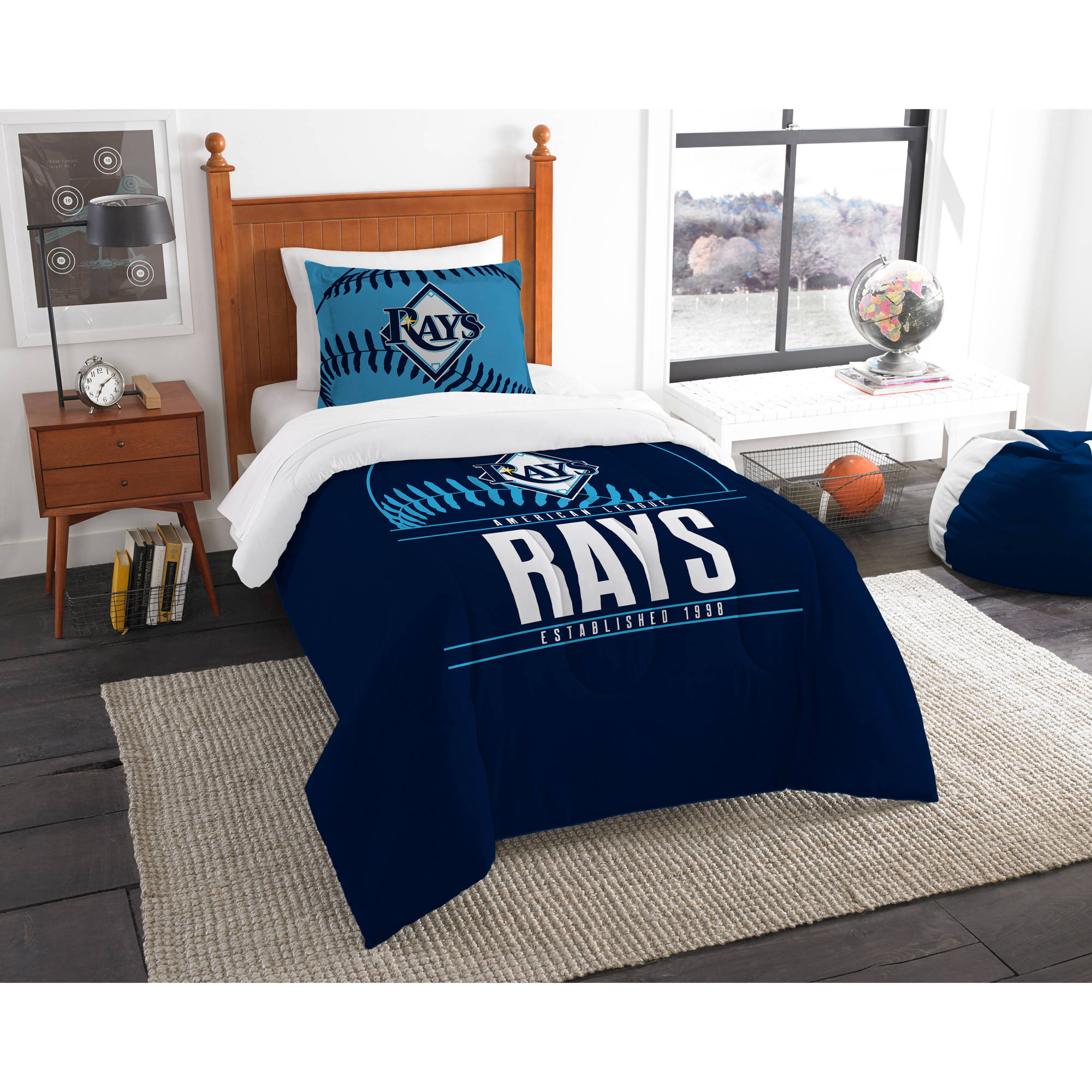 "MLB Tampa Bay Rays ""Grand Slam"" Bedding Comforter Set"