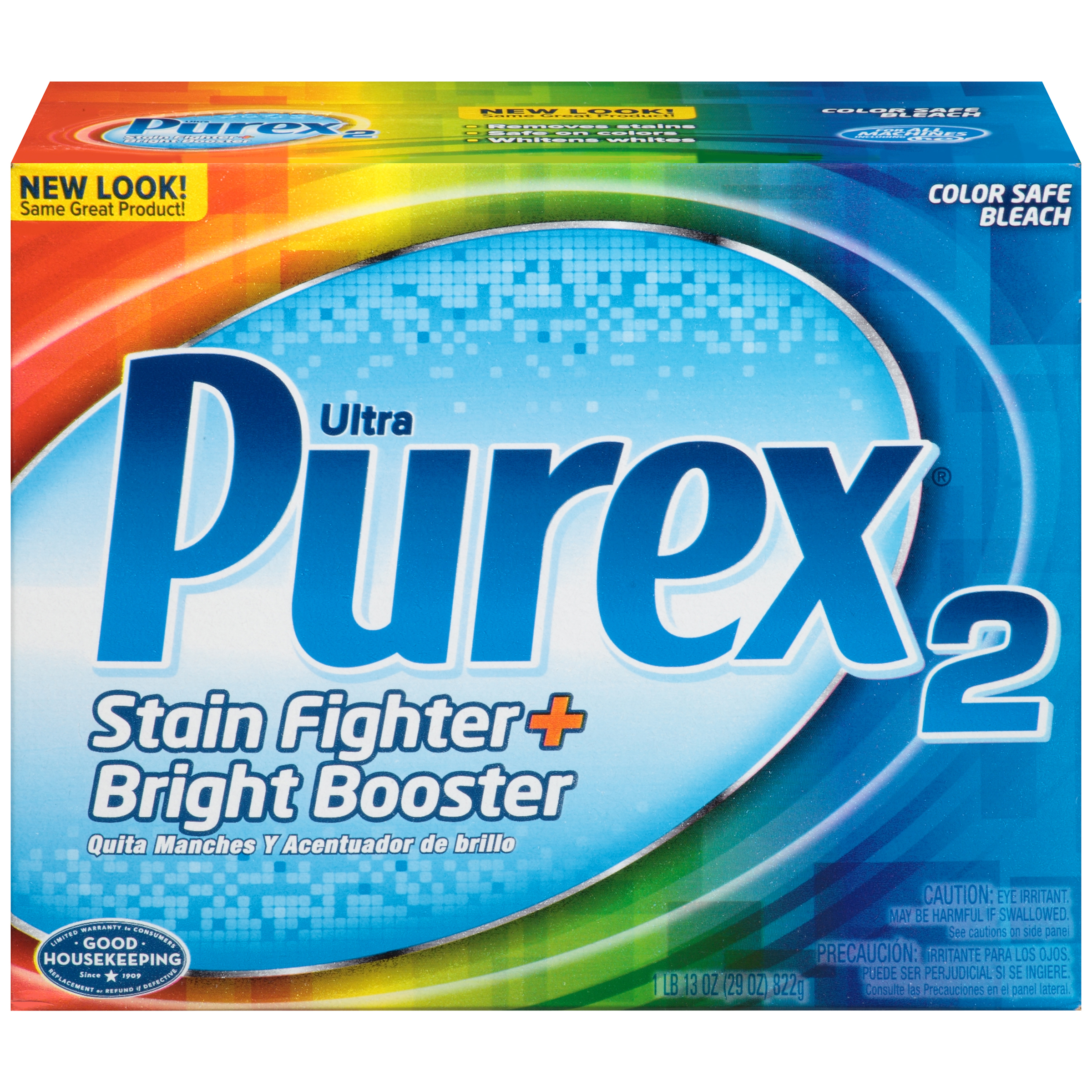 Purex2 Powder Color Safe Bleach, Stain Fighter and Bright Booster, 29 Ounce