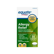 Equate Allergy Relief, Cetirizine Hydrochloride Tablets, 10 mg, 45 Count
