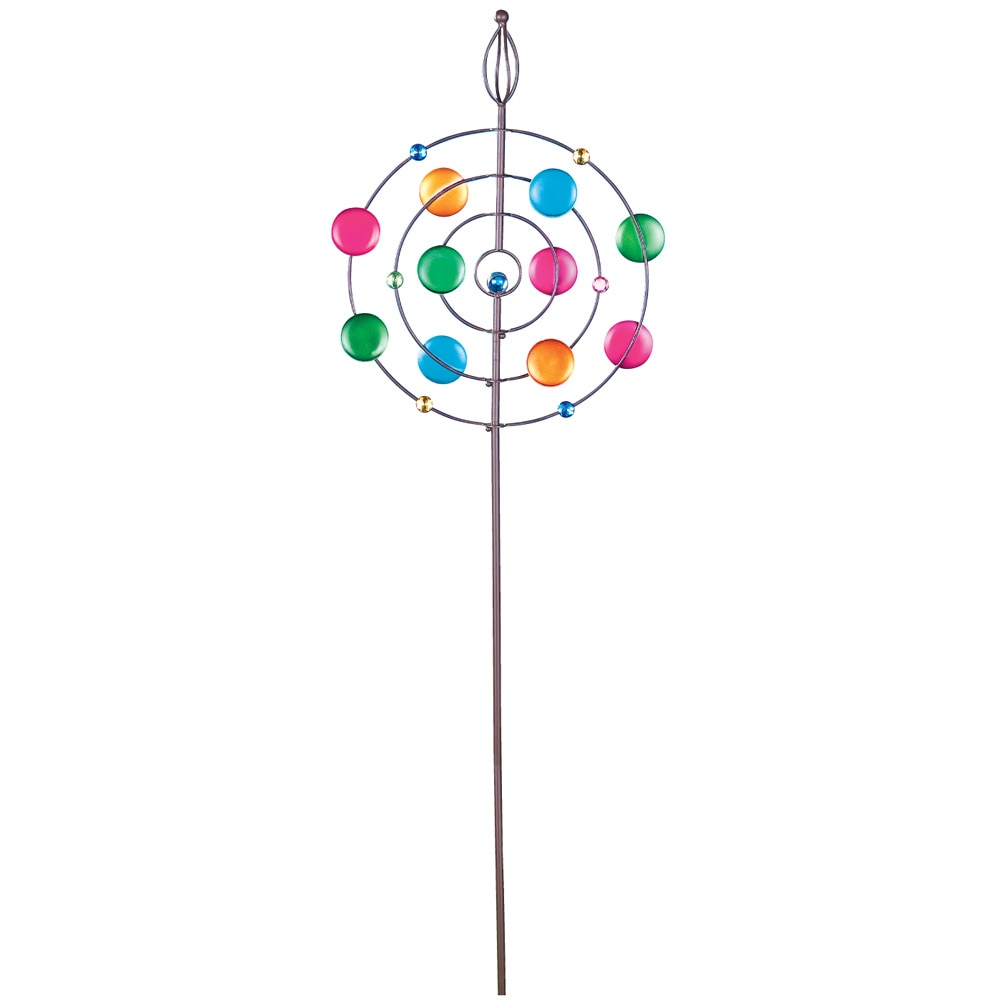 Colorful Glass Circular Wind Spinner by Collections Etc