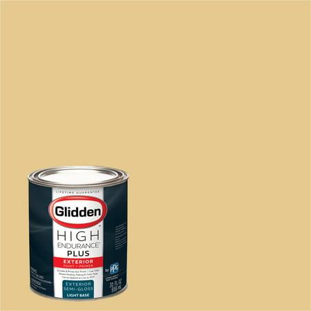 Glidden High Endurance Plus Exterior Paint and Primer Soft Gold 30YY 6